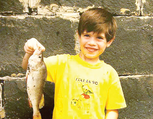 Young Matt fishing
